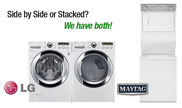 haier stackable washer and dryer. maytag stacking washer/dryer and lg 4.6 side by washer dryer set. haier stackable washer
